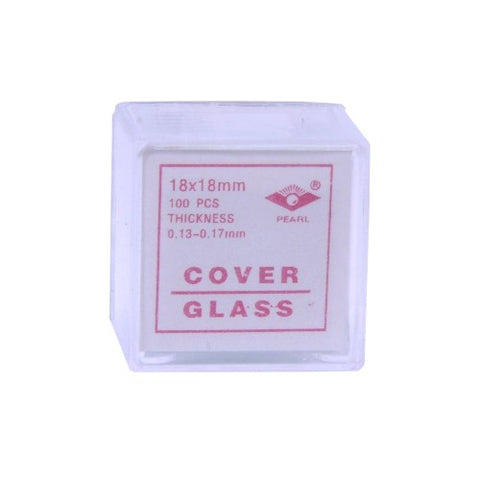 18x18mm #1 Glass Microscope Slide Coverslips, Pk of 100