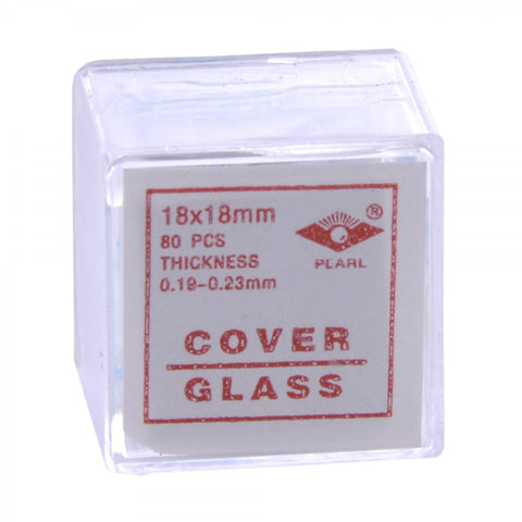 18x18 mm Glass Microscope Slide Coverslips Pk80 #2