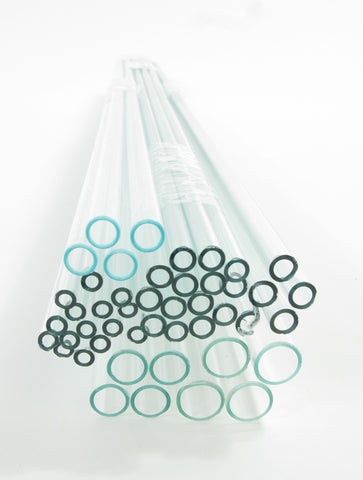 Flint Glass Tubing: Assortment Pack 46 pieces