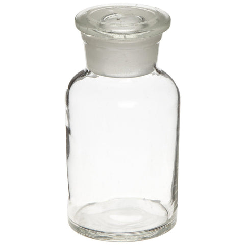 Glass Reagent Bottle: Apothecary Style Wide Mouth Bottle: 60ml (2 oz)