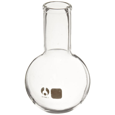 Borosilicate Glass Bomex Round Bottom Boiling Flask, 250 milliliter Capacity
