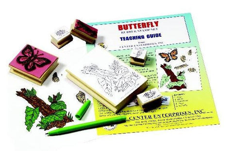Lifecycle of the Butterfly Rubber Stamper Set of 6 w/ Teachers Guide