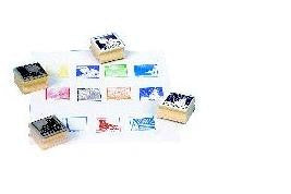 Weather Patterns Rubber Stamper Set #2 w11 Stamps/ Foggy, Cloudy Etc