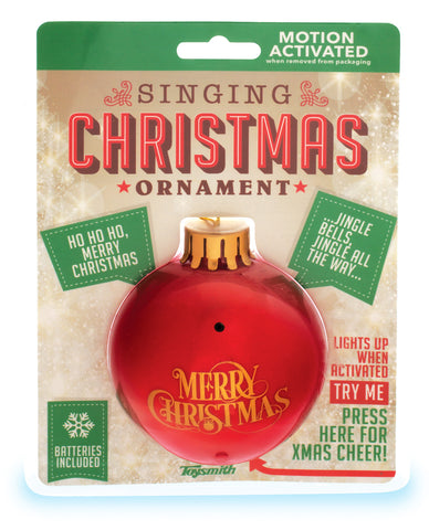 Singing Christmas Ornament - Holiday Decoration