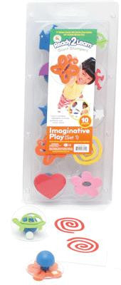 Imaginative Play Giant Rubber Stamper Stamp Set #1 Set of 10 w Case