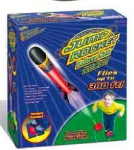 Deluxe Jump Rocket Set w/ Adjustable Launcher