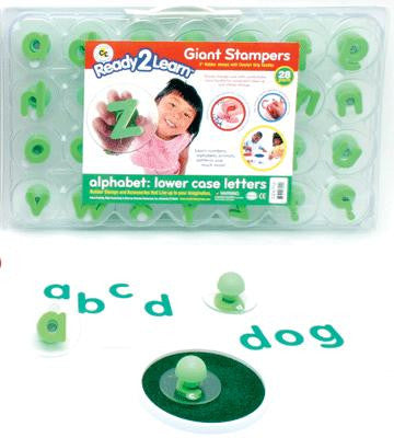 Alphabet: Lower Case Giant Rubber Stamper/ ABC's Stamp Set of 28 w Case