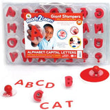 Alphabet: Upper Case Giant Rubber Stampers/ ABC's Stamp Set of 28 w Case