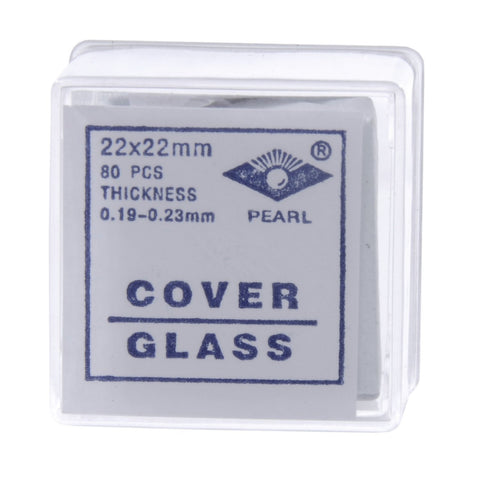 22x22 mm Glass Microscope Slide Coverslips Pk80 #2
