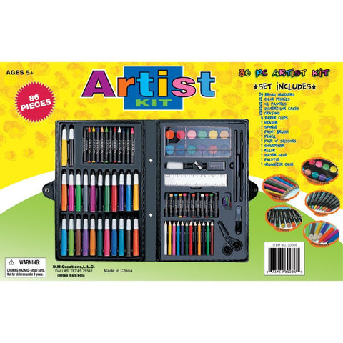 86 Piece Art Supplies Set by Art 101