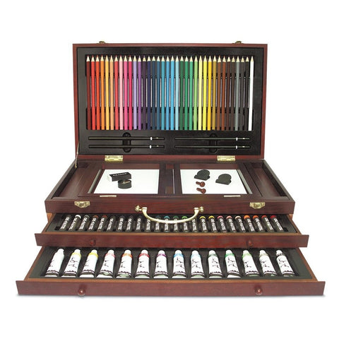 165 pc Deluxe Wood Art Set by Art 101