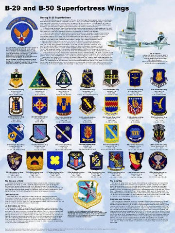 B-29 / B-50 Superfortress Wings Poster 18 X 24 Military Airplanes