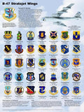 B-47 Stratojet Wings Poster 18 x 24 Military Airplanes