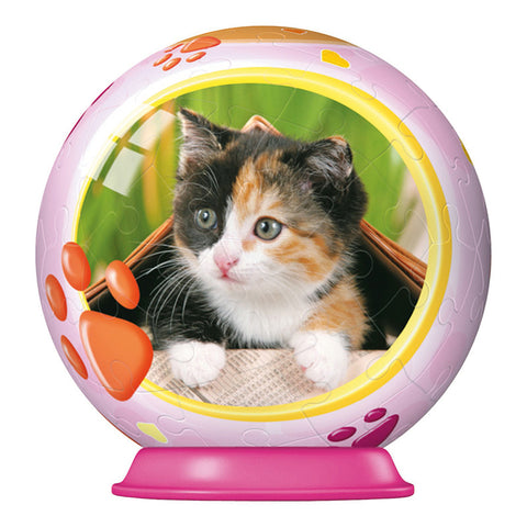 3D Animal Baby Puzzle Ball: KITTEN: 54 pc by Ravensburger