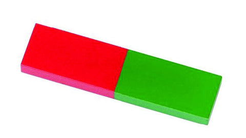 Small Red/Green Alnico Bar Magnet - 2.36""