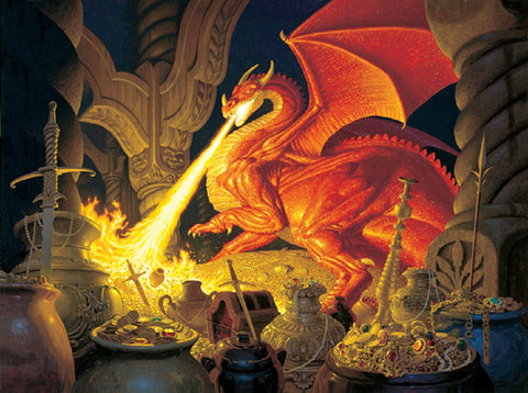 J.R.R. Tolkien's Smaug the Dragon Jigsaw Puzzle - 1,000 Pieces