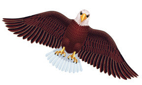 "Wildlife American Bald Eagle Bird Wing Flapper Kite-55"" Wingspan"