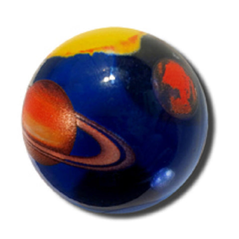 Solar System Marble 35mm Boxed Art Glass Shooter