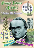 Mendel Poster 20 x 28 inches. Laminated: Father of Genetics