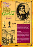 Galileo Poster 20 x 28 inches. Laminated Law of Falling Objects