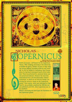 Copernicus Poster 20 x 28 inches. Laminated