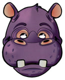 Paper Hippo Face Moving Mouth Mask Talking Headz Critter