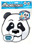 Set of 4 Paper Animal Face Moving Mouth Masks - Panda, Tiger, Monkey & Hippo
