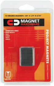 12 Ceramic Bar Magnets - 7/8 Inch Magnetic Bars by Dowling Magnets - Online Science Mall