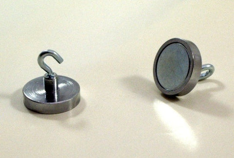 Magnetic Hooks - Heavy Duty Magnet Hooks - Qty. 2 in Chrome