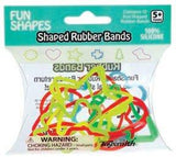 FUN SHAPES (6 styles w/ four leaf clover) Rubber Bands Bracelets 12k