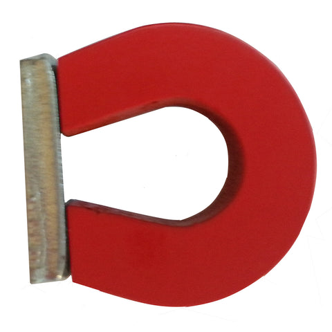"1"" Red Horseshoe Alnico Magnet Includes Steel Keeper - Online Science Mall"