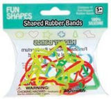 30 Packs of 12 FUN SHAPES Rubber Band Bracelets