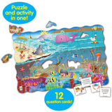 Puzzle Doubles Search & Learn Sea 50 Piece Game Set