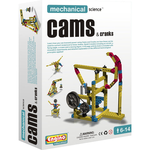 Engino Mechanical Science Building Kit: CAMS & CRANKS Education Toy