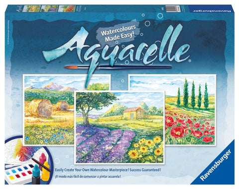 Aquarelle 3  WaterColor Paintings Arts & Crafts Kit by Ravensburger - PROVENCE