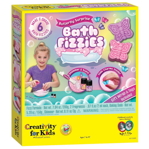 Butterfly Surprise Bath Fizzies Kit - Make 6 Butterfly Bath Fizzies by Faber-Castell