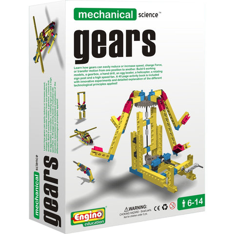 Engino Mechanical Science Building Kit: GEARS Education Toy