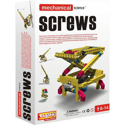 Engino Mechanical Science Building Kit: SCREWS Education Toy