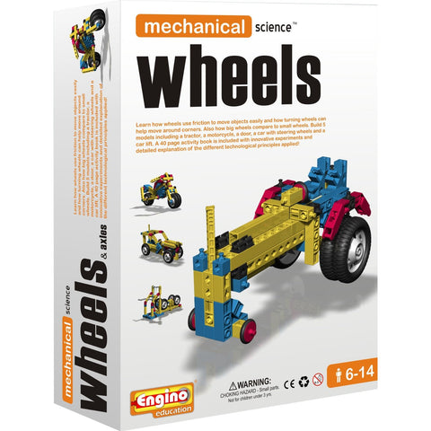 Engino Mechanical Science Building Kit: WHEELS & AXLES Education Toy
