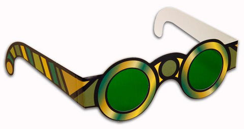 Wizard of OZ Green Spectacles- Emerald City Glasses-Pack of 10