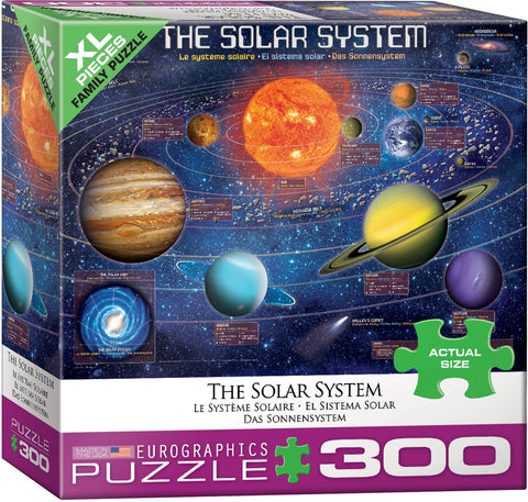 "Solar System Illustrated 300 Piece Family Puzzle 19 1/4"" x 26 5/8"""