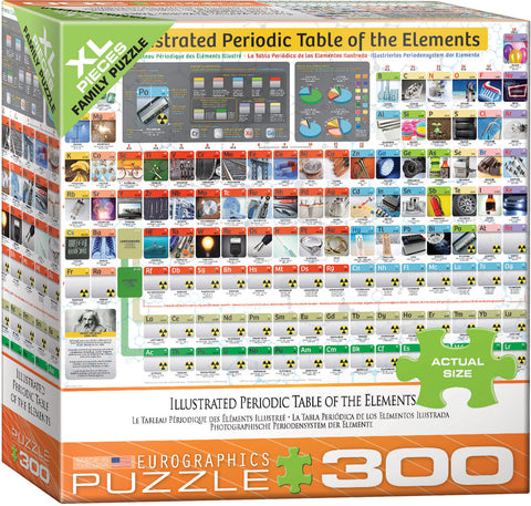 "Illustrated Periodic Table 300 Piece Family Puzzle 19 1/4"" x 26 5/8"""