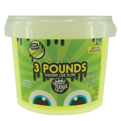3 Pounds of Squishy Like Slime Neon Yellow Slime by Compound Kings