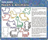 Noah's Animals: Christian Faith Bands Rubber Band Bracelets 12pk