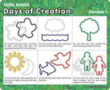 Days of Creation: Christian Faith Bands Rubber Band Bracelets 12pk