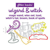 WIZARD & WITCH Stretchy Shapes: Glitter Rubber Bands 24pk
