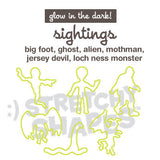 SIGHTINGS Stretchy Shapes: GLOW IN THE DARK Rubber Band Bracelets 24pk Halloween Special of the Day