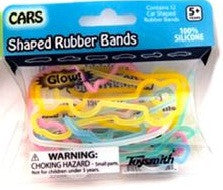 CARS Glow-in-the-Dark Rubber Band Bracelets 12pk