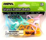 ANIMAL Glow-in-the-Dark Rubber Band Bracelets 12pk