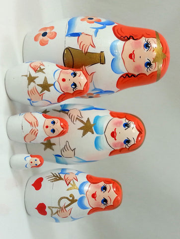 Angels Matryoshka Russian Nesting Dolls - Set of 6